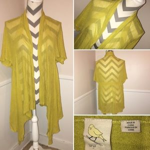 YELLOW BIRD | Anthro | open front duster